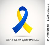 world down syndrome day. icon.... | Shutterstock .eps vector #1136026133