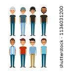 cartoon young boys | Shutterstock .eps vector #1136031200