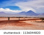amazing view of the volcano... | Shutterstock . vector #1136044820
