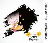 vector illustration of a banner ... | Shutterstock .eps vector #1136055980