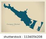 modern city map   corpus... | Shutterstock .eps vector #1136056208