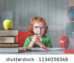 back to school. child from... | Shutterstock . vector #1136058368
