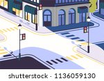 urban landscape with empty... | Shutterstock .eps vector #1136059130