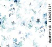 watercolor seamless pattern.... | Shutterstock . vector #1136059859