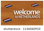 welcome to netherlands poster... | Shutterstock .eps vector #1136060933