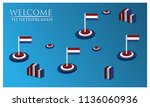 welcome to netherlands poster... | Shutterstock .eps vector #1136060936