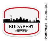 budapest hungary label stamp... | Shutterstock .eps vector #1136063333