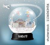 turkey landmark global travel...   Shutterstock .eps vector #1136063456