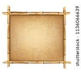 wooden frame made of brown... | Shutterstock .eps vector #1136066639