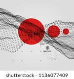 big data. wavy background with... | Shutterstock .eps vector #1136077409