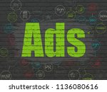 marketing concept  painted... | Shutterstock . vector #1136080616