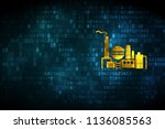 business concept  pixelated oil ... | Shutterstock . vector #1136085563