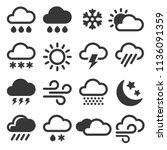 weather icons set | Shutterstock .eps vector #1136091359