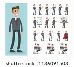 businessman character set. at... | Shutterstock . vector #1136091503