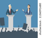 political debates illustration. ... | Shutterstock . vector #1136091680