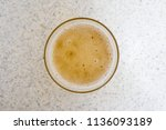 glass of beer top view with... | Shutterstock . vector #1136093189