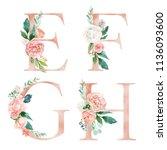 Floral Alphabet Set   Letters E ...