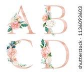 Floral Alphabet Set   Letters A ...