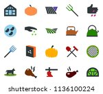 colored vector icon set   field ... | Shutterstock .eps vector #1136100224
