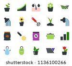 colored vector icon set   field ... | Shutterstock .eps vector #1136100266
