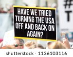 Small photo of London, United Kingdom, 13th July 2018:Placards carried by anti Donald Trump protesters marching in central London
