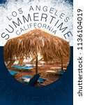 california summer  photo print | Shutterstock . vector #1136104019