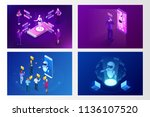 isometric artificial... | Shutterstock .eps vector #1136107520