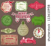 christmas calligraphic design... | Shutterstock .eps vector #113610958