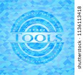 tools sky blue emblem with... | Shutterstock .eps vector #1136113418