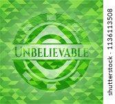unbelievable green emblem with... | Shutterstock .eps vector #1136113508
