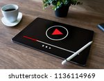 video player window on device... | Shutterstock . vector #1136114969