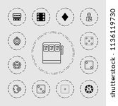 chance icon. collection of 13... | Shutterstock .eps vector #1136119730