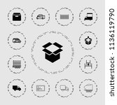 deliver icon. collection of 13... | Shutterstock .eps vector #1136119790