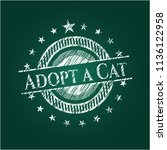 adopt a cat written on a... | Shutterstock .eps vector #1136122958