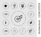 melody icon. collection of 13... | Shutterstock .eps vector #1136123210