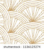 art deco seamless geometric... | Shutterstock .eps vector #1136125274
