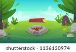 rest forest grass field bbq...   Shutterstock .eps vector #1136130974