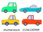 side view of vehicles isolated... | Shutterstock .eps vector #1136130989