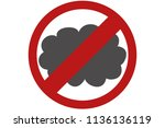gray cloud of pollution. | Shutterstock .eps vector #1136136119