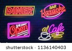 neon signs for music club or... | Shutterstock .eps vector #1136140403