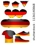 german flag  a set of icons... | Shutterstock .eps vector #1136140868