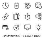 set of black vector icons ... | Shutterstock .eps vector #1136141000