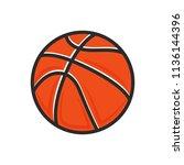 basketball icon. basketball... | Shutterstock .eps vector #1136144396