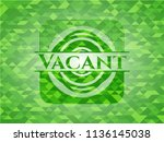 vacant green emblem with mosaic ... | Shutterstock .eps vector #1136145038