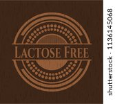 lactose free wood emblem.... | Shutterstock .eps vector #1136145068