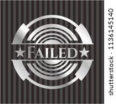 failed silvery emblem or badge | Shutterstock .eps vector #1136145140
