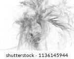 monochrome abstract fractal... | Shutterstock . vector #1136145944