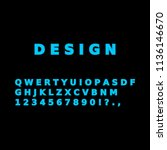 simple vector font. template of ... | Shutterstock .eps vector #1136146670
