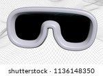 virtual reality illustration on ... | Shutterstock . vector #1136148350