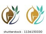 logo for spa procedures  female ... | Shutterstock .eps vector #1136150330